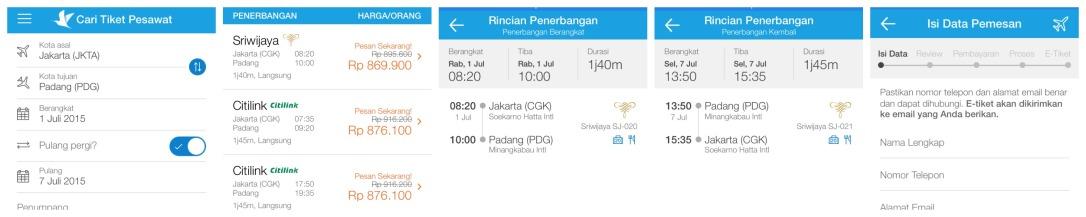 Ini langkah-langkah dalam memesan tiket Traveloka via iPhone