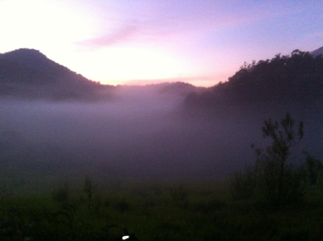 Matahari mulai terbit